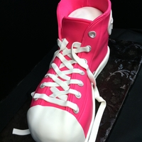 Sneaker Cake all cake and fondant