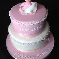 Christening Cake For A Portuguese Baby Girl Christening cake for a Portuguese baby girl :)