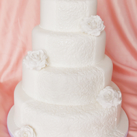 Wedding Cakes All White Wedding Cake