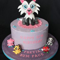 Moshi Monster's Cake I made this cake last week through Little Angels' Cakes