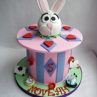 Mad Hatter  This cake was adapted from a Magic themed rabbit in the hat cake that I saw ages ago on the net. Apologies to the original decorator, I...