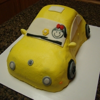 Vw Bettle Covered in buttercream with fondant accents. TFL
