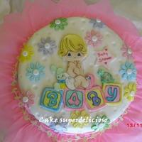 Preciosos Momentos baby shower... Buttercream Finish with fondant details