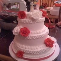 Buttercream Wedding Cake Buttercream sponge and marble cake I did for a last minute wedding