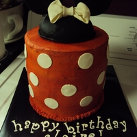 Minnie Mouse Ears W/ Red & White Polka Dots BUTTERCREAM WITH FONDANT ACCENTS