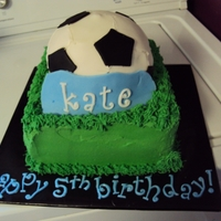 Soccer Ball Cake BUTTERCREAM WITH FONDANT ACCENTS