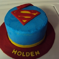 Superman Cape Cake   BUTTERCREAM WITH FONDANT ACCENTS