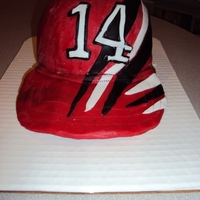 Tony Stewart #14 Nascar Car Racing Baseball Cap Hat   Buttercream with fondant accents