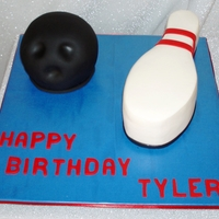 Bowling Ball And Pin Bowling ball and pin cake.