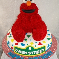 Elmo Elmo made using the Wilton 3D bear cake pan. My family thought this was going to be a cake wreck but it actually came together once the...