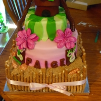 Paiges Sweet 16  Luau themed sweet 16 birthday with fondant accents, sugar (brown and white) sand, white chocolate seashells and Pirouette cookies. the keys...