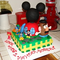 Mickey Mouse Clubhouse Cake Mickey Mouse Clubhouse, Team UmiZoomi and Mr. Potato head themed cake for a little boy turning 2. They are all of his favorite things. This...
