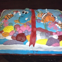 Open Story Book this cake was for a book party it was eggless strawberry cake with vanilla frosting and vanilla fondant.