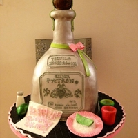 Tequila Silver 30th Birthday cake