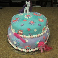 Isabella's My Little Pony 5Th Birthday Cake Here's a cake I made for my daughter's 5th birthday party. One cake was key lime cake with key lime buttercream and the other...
