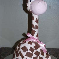 """raffy"" 3D Giraffe. Pound cake with buttercream filling."