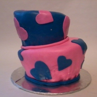 Topsy-Turvy Birthday This is my first topsy-turvy cake, I made it for my daughters 7th birthday. She wanted it pink and blue with hearts. WASC cake, I had...