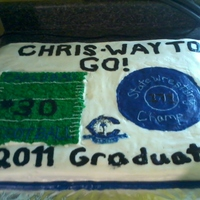 Graduation Cake This is a cake for my mother in laws coworker whos son just graduated high school, same school as the previous cake. She asked for a sheet...
