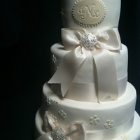 Tiered Wedding Cake A gift for my cousin Lilli :-)