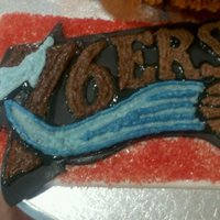 76Ers Basketball Cake 76ers Basketball cake made for a very big fan!