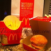 Hamburger & French Fries this was made for a party i catered for one of the owners of mc donalds here in my city it was there party favor a bag with a hamburger...