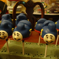 Thomas The Train Cake Pops For a little boy who loves thomas the train and is turning 8 years old.