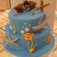 Shark 30Th Birthday Cake