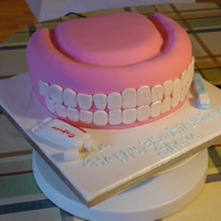 Denture Birthday Cake This was a birthday present for my dentist from his staff - not entirely accurate, but he loved it anyway!