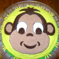 1315239755.jpg MONKEY THEME BABY SHOWER THE ICING IS BC ON A CHOCOLATE CAKE I SKETCHED THE MONKEY THEN TRANSFERED ONTO THE CAKE!