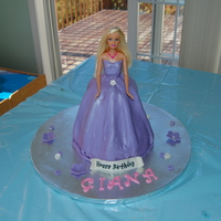 Princess Cake   Barbie Princes cake made for a friends daughters 2nd birthday. A strawberry cake covered in fondant with fondant accents