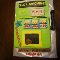 Slot Machine - Casino 9x13 cake, carved into a slot machine