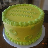 "Lemon And Lime 8"" Round Cake"