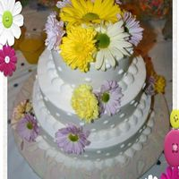 Spring Wedding Cake *sorry for the frame...this is the only picture i was able to get