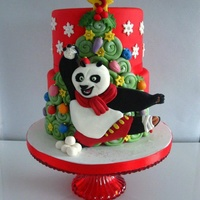 Kung Fu Christmas For a boy 3th birthday with christmas details!