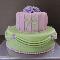 Pastel Cake With Drapery And Pleats For a lady who turned 75, finally the chance to make a cake with pastel colours, and to try out the pleats and drapings for the first time...