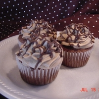 Chocolate Chili Cupcakes   Made with Cayenne pepper in both scratch batter and frosting, drizzled with chocolate