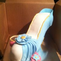 Bridal Shower High Heel Shoe Cake This Is My First Time With No Prep Making An High Heel Shoe Cake I Took Some Pics On How I Made The Stru... Bridal Shower High Heel Shoe CakeThis is my first time with no prep making an high heel shoe cake. I took some pics on how I made the...