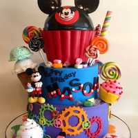 All Decorations Edible Art Including Ice Cream Cupcakes Candy Candy Wrappers Hat And Mickey Fun Cake To Make For A Special Little Boy All decorations edible art including ice cream, cupcakes, candy, candy wrappers, hat, and Mickey. Fun cake to make for a special little boy...