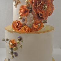 Tasting Cake For Ashley Bride wanted cake done in oranges, purples and greens for a fall wedding.