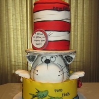 Joanie's Little Who Baby shower cake. Thanks to all the Cat in the Hat cakes here on Cake Central for inspiration. A special thanks to Connie1027 for the...