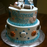 Sport Theme Baby Shower Cake