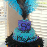 Mom's 50Th Birthday Inspired by cakes from WahineKai and amandah311. Mom and party guests loved the cake!