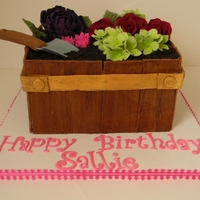 Flower Pot Cake This was for a lady who loved gardening, so I made her a pot of flowers!