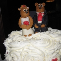 Wedding/valentine spur of the moment wedding so spur of the moment cake! this was fun