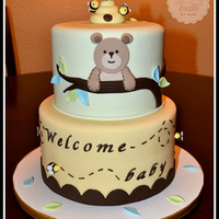 Bear And Bees Cake Made to match the invite!