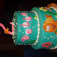 Bubble Guppies The mom who ordered this cake loved the design by BakingChik, so thanks to her for the inspiration! It's an 8in+6in frosted in...