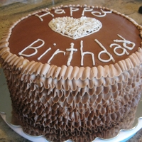 "Chocolate Ruffle Birthday This is my ultimate ""death by chocolate"" cake. Triple Fudge Cake with whipped ganach filling and fudge icing. It's also my..."