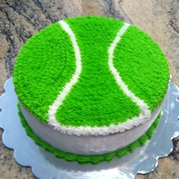 Tennis Ball Birthday White Chocolate Lemon cake/filling.