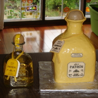 Patron Birthday Cake This cake was fun! It is a lime pound cake, soaked with a Patron simple syrup, and filled with a salted lime tequila buttercream...it was...