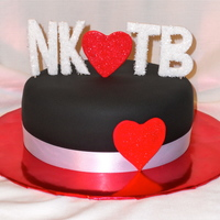 New Kid's On The Block Made for a friend who still loves NKOTB. Chocolate cake covered in black fondant. Letters and hearts are gum-paste. I based the design off...